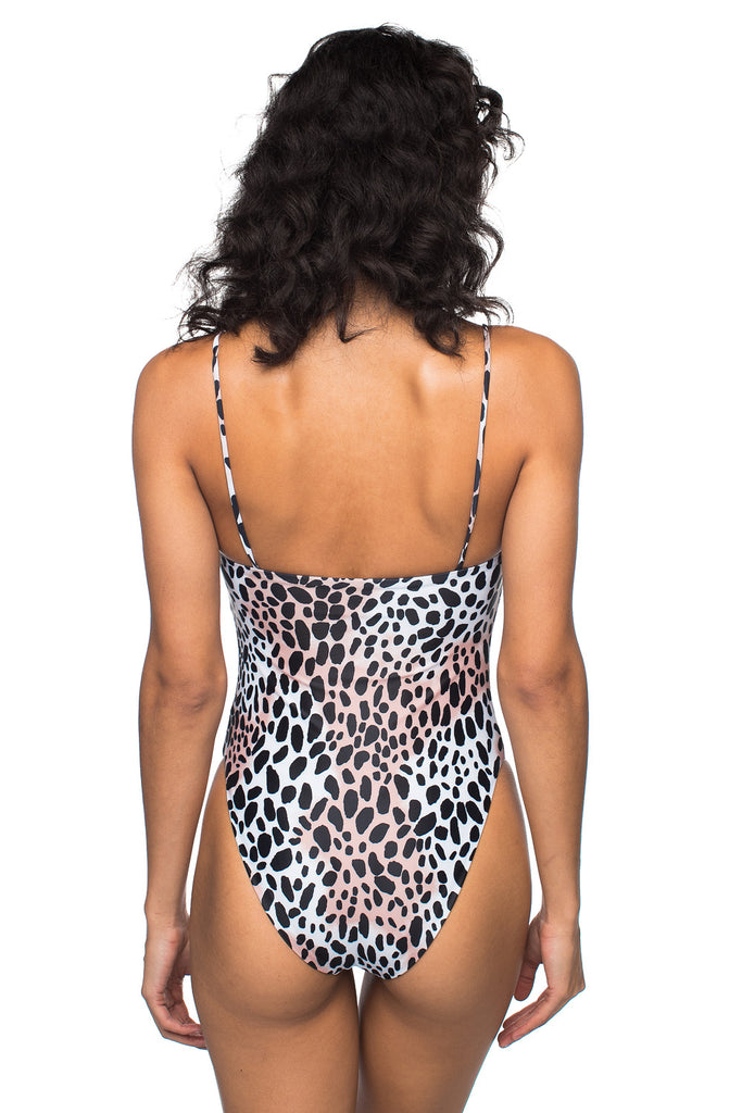 BuddyLove Nicole Square Neck One Piece - Cheetah