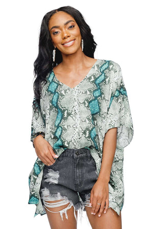 BuddyLove North Tunic Flowy Top - Emerald - Buddy Love Clothing Label