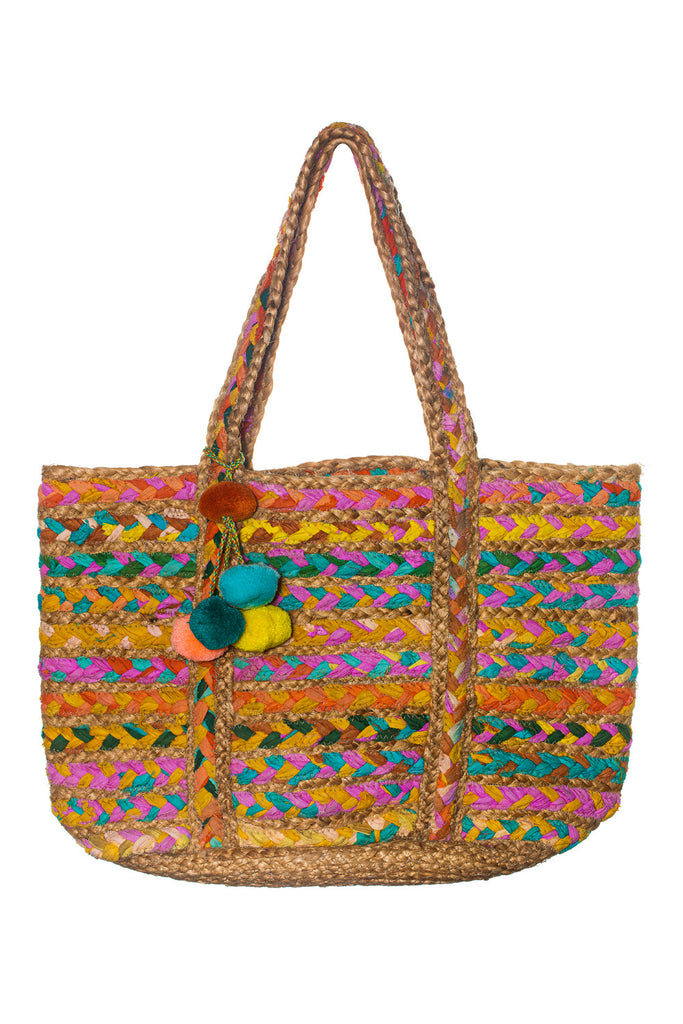 cute colorful women's tote hand bag
