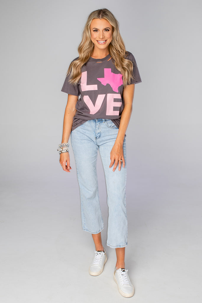 BuddyLove Russell Distressed Graphic Tee - Texas Love