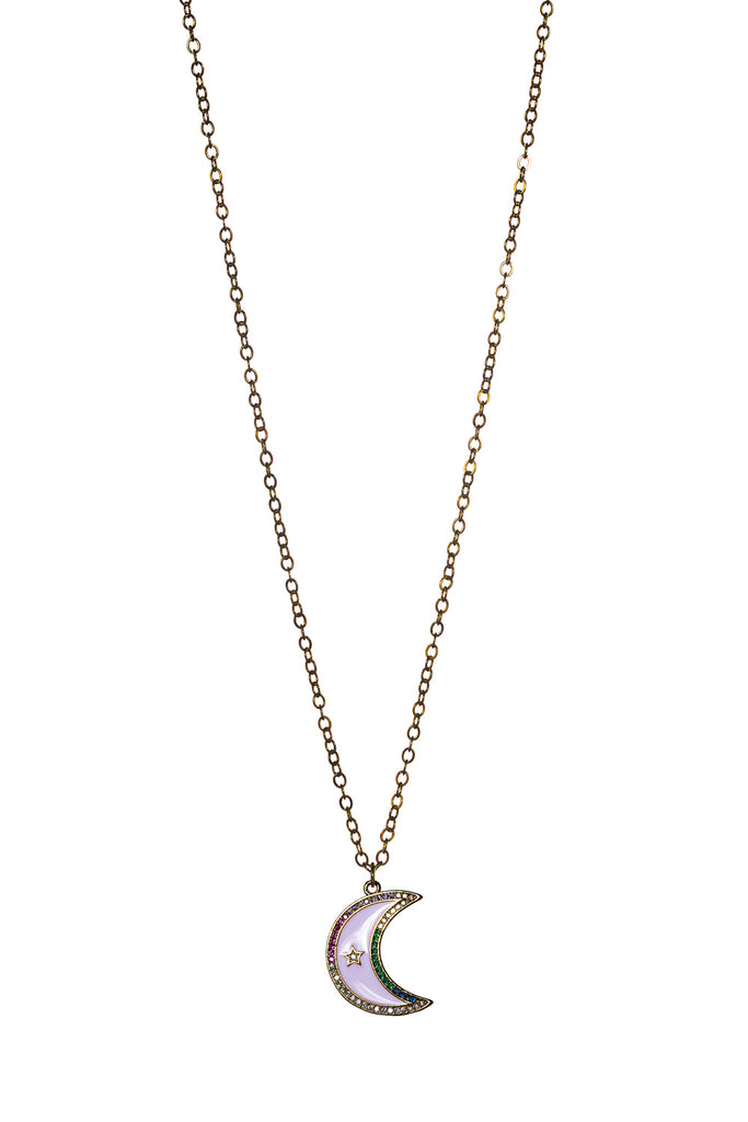 BuddyLove Rainbow Moon Necklace - Gold