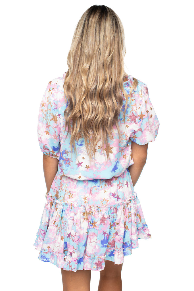BuddyLove Ray Elastic Waist Mini Dress - Cloud 9