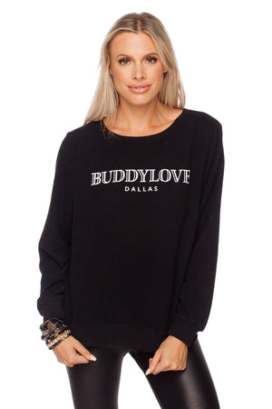 Logo Dallas on Women's Black Sweater