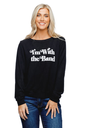 BuddyLove Ringo Graphic Sweater Black - I'm with the Band