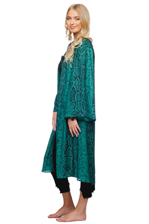 BuddyLove Roberts Medium Length Bell Sleeved Duster - Forest