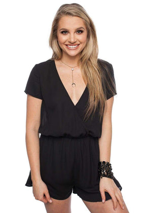 BuddyLove Rush Romper - Black - Buddy Love Clothing Label