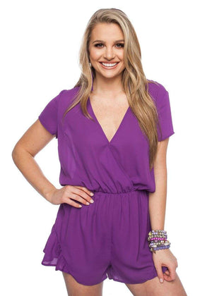BuddyLove Rush Romper - Purple - Buddy Love Clothing Label