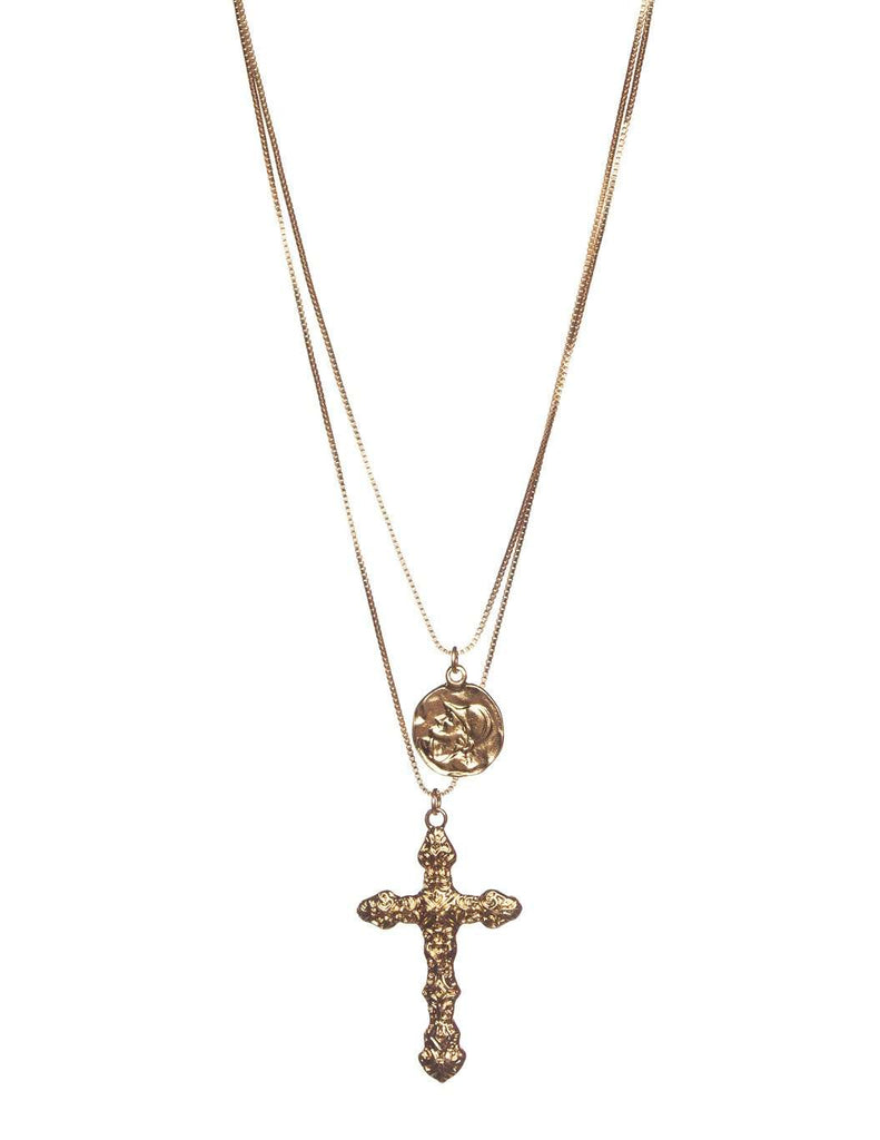 BuddyLove Saint Necklace - Buddy Love Clothing Label