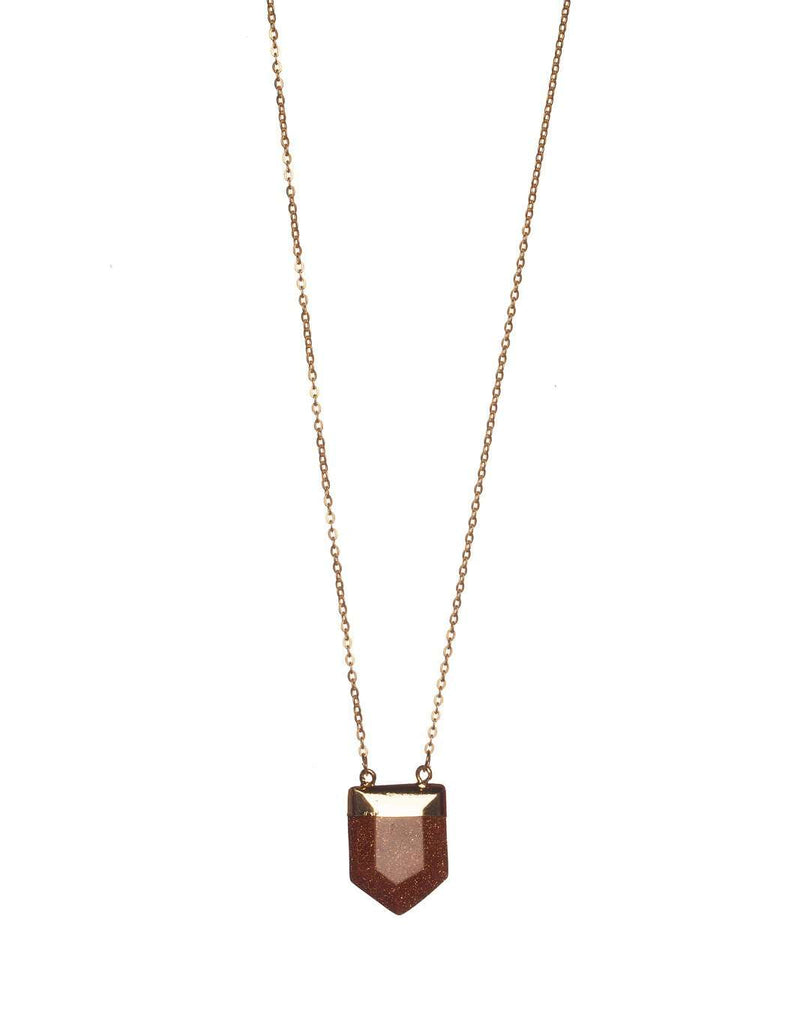 BuddyLove Spear Necklace - Brown - Buddy Love Clothing Label