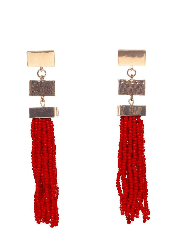 BuddyLove Stonehenge Earrings - Red - Buddy Love Clothing Label