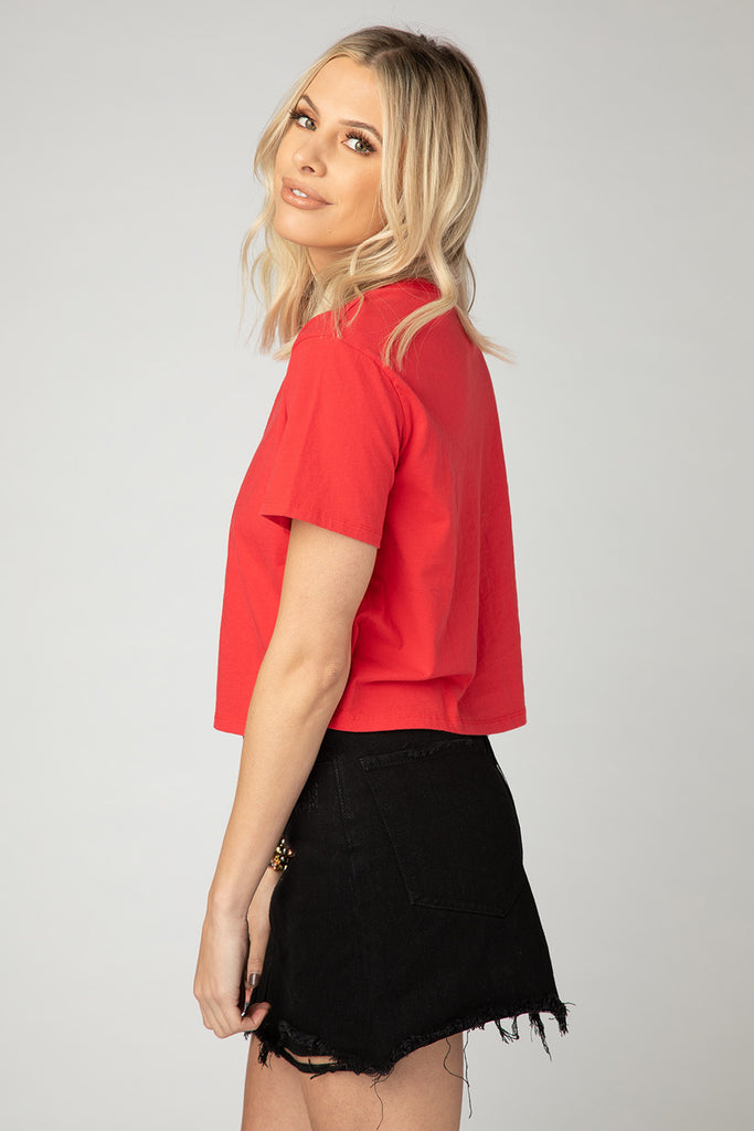 BuddyLove Sarah Cropped Tee - Red