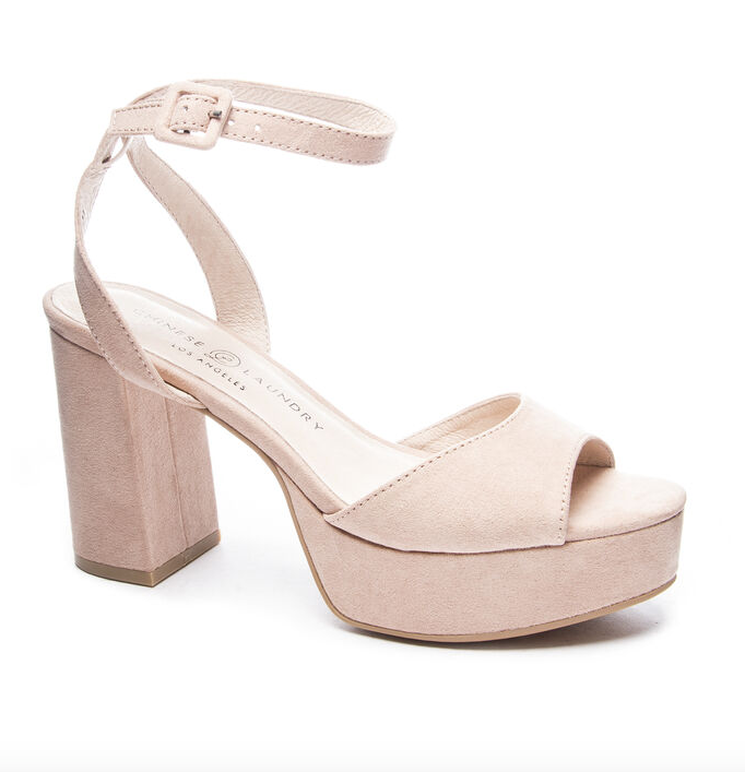 Theresa Platform Sandal - Dark Nude,6 / Tan