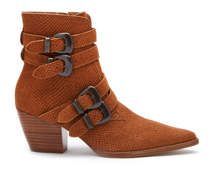 Harvey Leather Booties - Tan