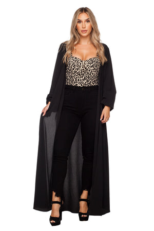 BuddyLove Stoney Long Sleeved Maxi Duster - Black