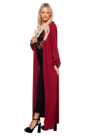 BuddyLove Stoney Long Sleeved Maxi Duster - Wine