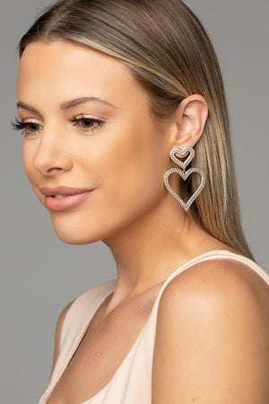 BuddyLove Sweetheart Drop Earring - Gold,Gold