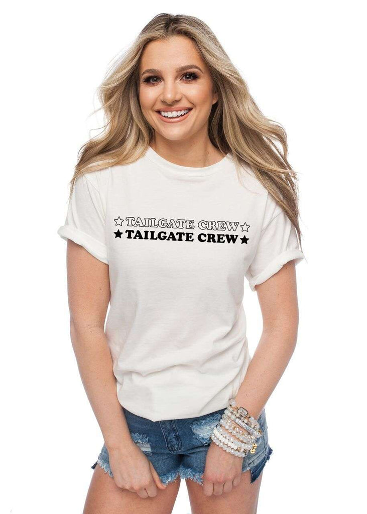 BuddyLove Van Solid White Cotton Graphic Tee - Tailgate Crew Black,S