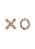 BuddyLove XO Stud Earrings - Gold