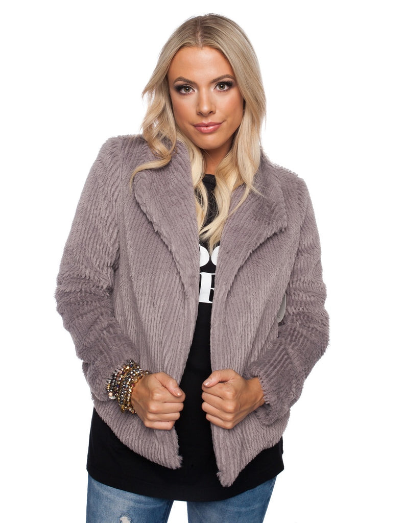 BuddyLove Grace Coat - Grey,S / Grey / Solids