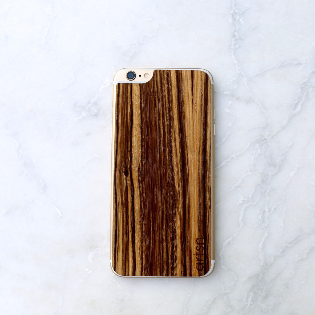 zebrawood iphone skin