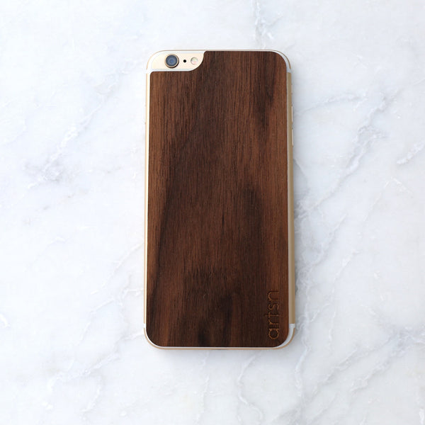 walnut iphone skin