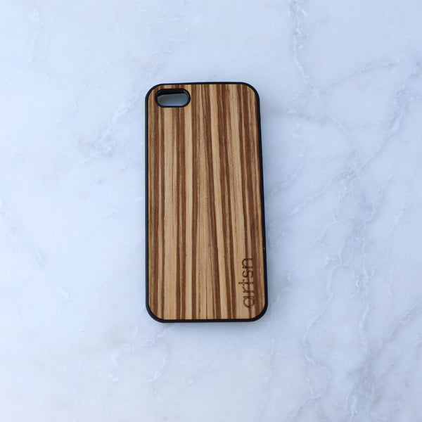 zebrawood iphone case
