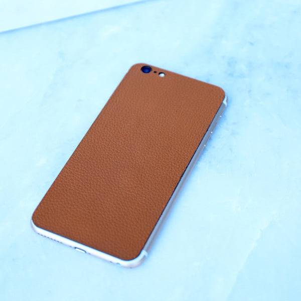 luggage brown iphone skin