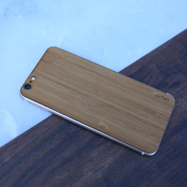 bamboo iphone skin