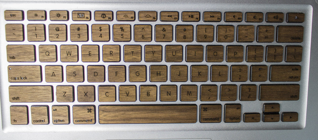 walnut keyboard skin cover