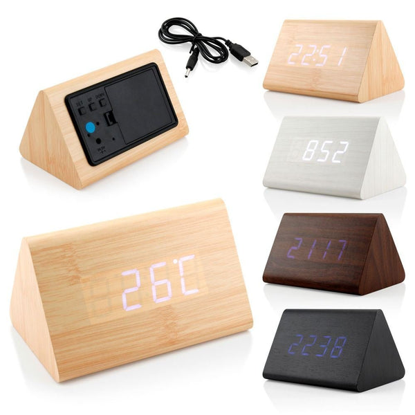 triangle SNOOZE clock