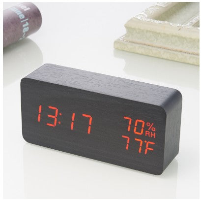 the WOOD SNOOZE clock