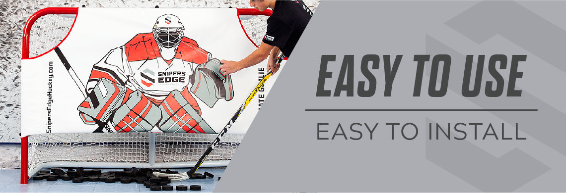 Hockey net easy to install