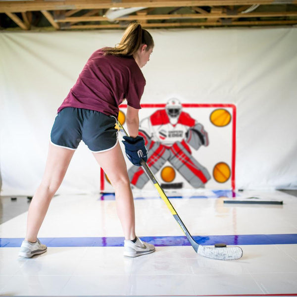 How to Practice Hockey on Slick Tiles