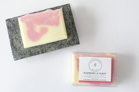 Raspberry & Lemon Coconut Milk Soap