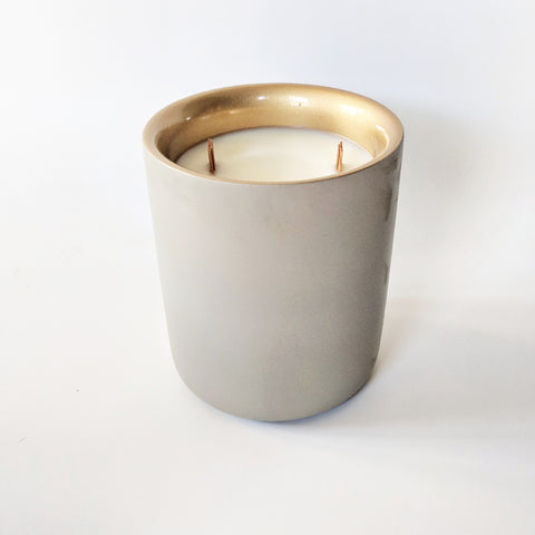 Limited Edition- Holiday Spruce Double Wick Concrete Candle