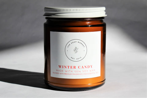 Winter Candy Candle