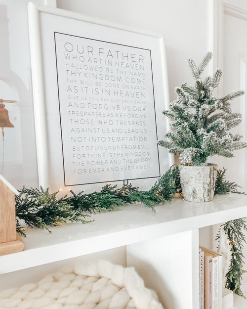 OUR FATHER WALL ART PRINT (WHITE)