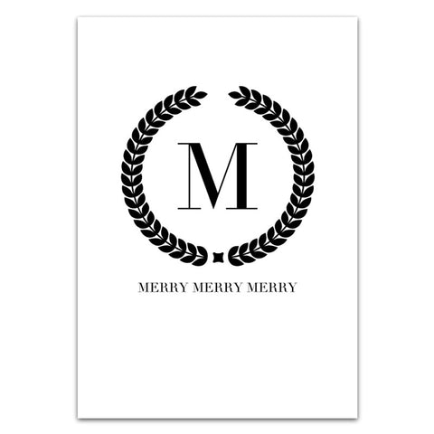 MERRY GREETING CARD SET