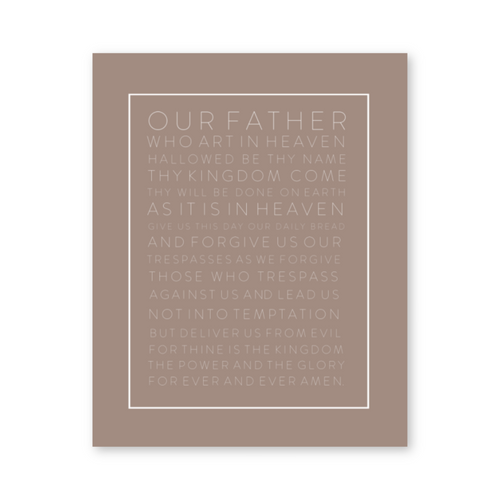 OUR FATHER WALL ART PRINT (SAND)