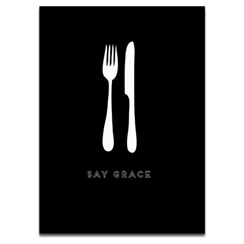 SAY GRACE (BLACK)