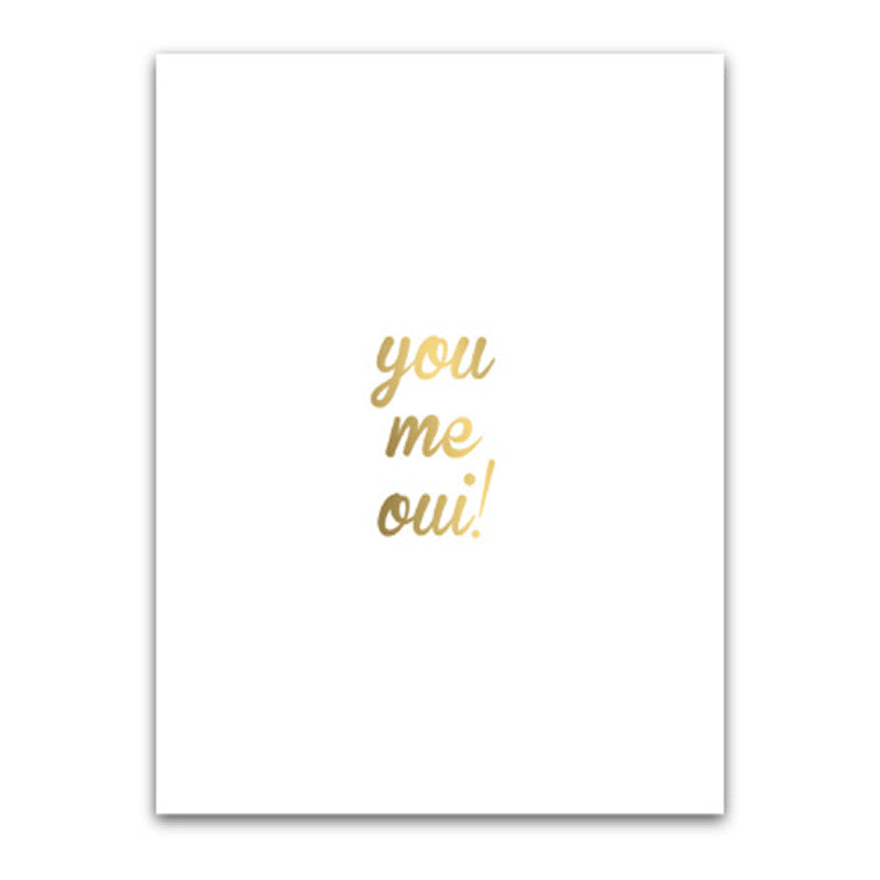 YOU ME OUI (WHITE)