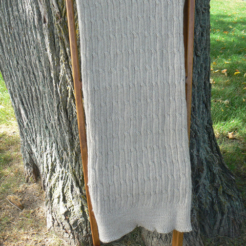 Hand-knit Throw