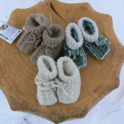 Baby Booties with Sheepskin Base