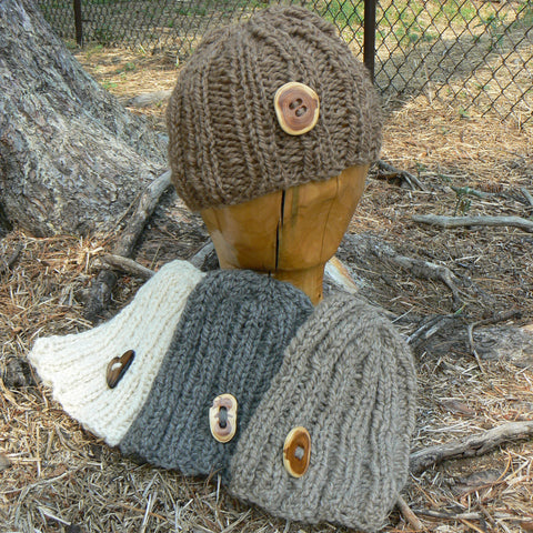 Button Ribbed Hat