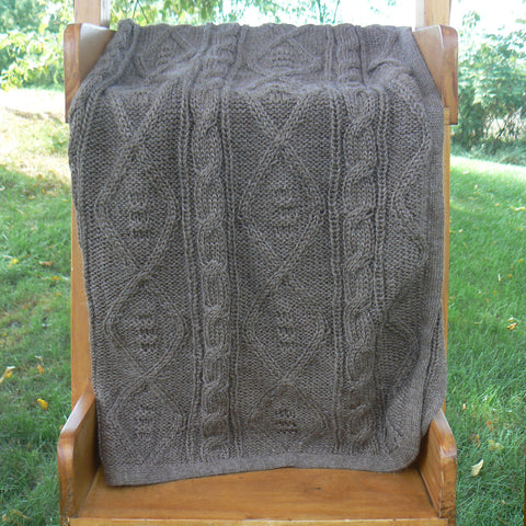 Cable Hand-Knit Baby Blanket