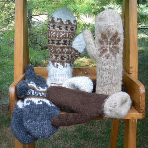 Double-knit Reversible Mittens