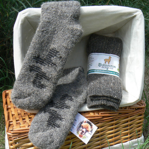 Heavy Weight Alpaca Boot Socks