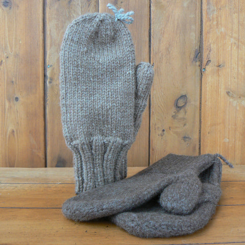 Bulky Hand-knit Mittens