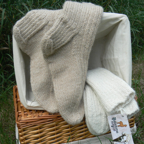 Heavy Weight Hand-knit Slouch Socks