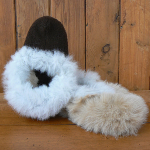 Reversible Alpaca Fur Slippers
